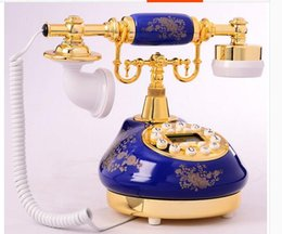 Wholesale Brass Phone - Beautiful landline phones mansion Rustic Rotary dial dial European style antique fashion phone