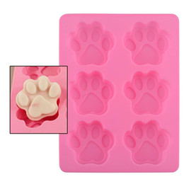 Wholesale Chocolate Sweet Moulds - Lovely Sweet Multifunction Dog Paw Silicone Mold Ice Cube Cake Soap Chocolate Baking Mould Kitchen Accessoriess