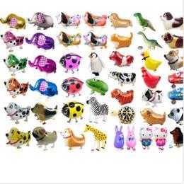 Wholesale Child Toy Balloon - Walking Pet Balloon Animal Balloon Inflatable Aluminum Walking Pet Balloon Christmas Decoration Children Toys 39 design KKA2267