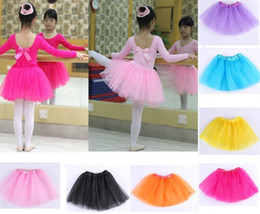 Miglior corrispondenza Baby Girls Childrens Kids Dancing Tulle Tutu Gonne Pettiskirt Dance wear Balletto Dress Fancy Gonne Costume 1-8T Spedizione gratuita da