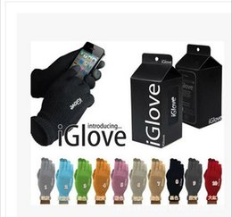 Wholesale Resistive Screen Smart Phones - IGlove Screen Touch Gloves Capacitive Gloves With Retail Package Unisex Winter for Iphone 6 6S Plus 5S Smart Phone Touch ipad DHL