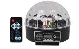 Canada Mini 9 couleur LED Stage Light Cristal Magic Ball effet lumière DMX 512 Panneau de contrôle Disco DJ Party Stage Éclairage haute qualitéAC110V-220V supplier dmx 512 led crystal ball Offre