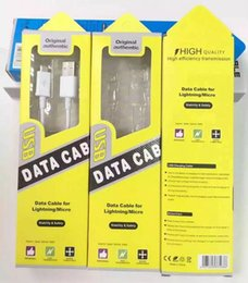 Wholesale Ios Usb Cable - Yellow plastic Universal Micro 1m 1.5m USB cable Paper retail package box For Samsung S6 S7 For iPhone 6 IOS cable retail packaging