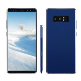 Wholesale Wholesale Phone Andriod - 6.3inch Note8 Quad Core MTK6580 1G RAM 8G ROM Andriod 6.0 8MP Camera 2300mAh Battery Fingerprint 3G Unlocked Phone