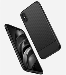 Wholesale Materials For Drawing - Shockproof Armor Case For iX iPhone X Carbon Fiber TPU Drawing Material Phone Cases Cover