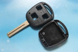 Wholesale Lexus Button - 3 Buttons Remote Key Shell Case Replacement Car Keys Fob Blank Cover Fit For Lexus RX300 ES300 With Logo Free Shipping
