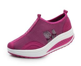 Wholesale Slimming Shoe - Female shoes women summer slimming shoes women breathable swing shoes top quality
