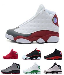 Wholesale Rubbers Get Blue - WITH BOX 2017 air retro 13 What Is Love black cat bred flints grey toe He Got Game hologram barons XIII shoes Sports Sneakers