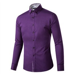 Wholesale Latest Shirts Designs For Men - Wholesale- latest shirt designs mens dress shirts for men fashion Non-iron wrinkle free cotton business men dress shirt shirts for men