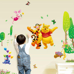Wholesale Pooh Kids - winnie the pooh bear wall sticker child role of children's diy adhesive art mural poster picture removable wallpaper baby room