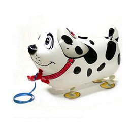 Wholesale Toy Dog Balloon - Walking Pet Dog Foil Balloons Animal print balloon Party Decoration Children Toys Wholesale HJIA924