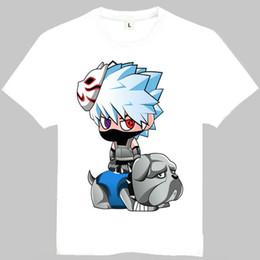 Wholesale Kakashi Shirt - Hatake Kakashi t shirt Naruto elastic short sleeve gown Anime tees Leisure unisex clothing Quality cotton Tshirt