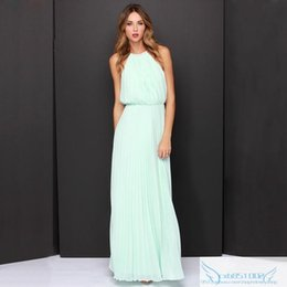 Wholesale Wholesale Floor Length Chiffon Dress - Cheap discount Summer Dress.Black Friday Best Buy.Sexy Slim Dresses.Wedding party long Dress.Sleeveless pleated dress.Vestidos.Free DHL.
