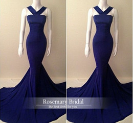 Wholesale Green Silk Womens Dresses - Sexy Evening Dress 2016 Elegant Womens Mermaid Prom Dresses Online Simple Design Evening Party Gowns Z236