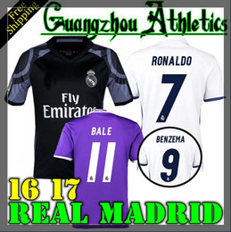 Wholesale 2016 Real Madrid home Away RD jerseys Real Madrid RONALDO BENZEMA JAMES BALE shirt