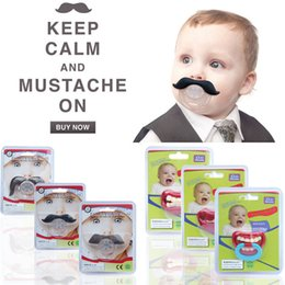 Wholesale funny pacifiers - Newborn baby funny Moustache tooth Pacifiers Silica gel infant Pacifiers 9 styles kids nipple C2619