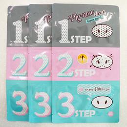 Wholesale Blackheads Kit - Holika Holika Pig Nose Cleaning Strips Blackhead Remover 3 Step Kit Korean Cosmetics Face Nose Treatment and Mask