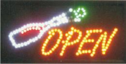 2019 outdoor levou bar sinais 2016 new arrival Semi-ao ar livre 10x19 Polegada Led Neon piscando Sinais para bar loja sinal aberto led display outdoor levou bar sinais barato