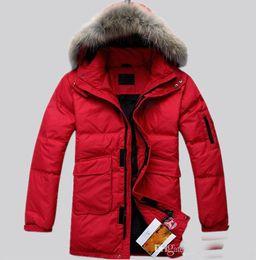Wholesale Fur Collar Jacke - 2016 new arrive hot sale winter fashion casual slim Fur collar coat Men's down coat men's Outerwear down jacke black
