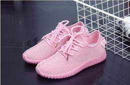 Wholesale Ladies Fashion Trainers - New Women's Casual Shoes Fashion Breathable pink Walking Shoes Tenis Feminino Flat Ladies Trainers Flat Shoes Woman shoes