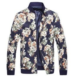 Wholesale European Style Jackets - Free Shipping 2016 New Arrival Winter Fashion Printed Coat Famous Desing Thin High Quality European Style Mens Casual Jacket Hot Sale