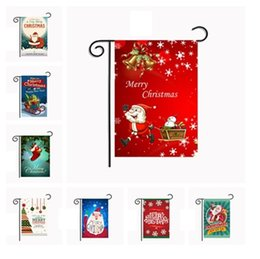 Wholesale Hanging Outdoor Christmas Decorations - New fashion 5 series Christmas Garden Flags American style Hanging outdoor Flags Christmas Party Decorations supplies IA670
