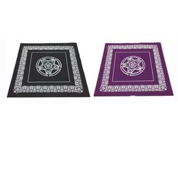 Wholesale Textile Materials - 49*49cm pentacle Tarot game tablecloth non-woven material board game textiles tarots table cover playing cards