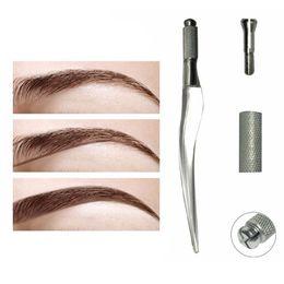Wholesale Machine Makeup Manual - Wholesale-Manual Tattoo Pen Tattoo Machine Eyebrow Microblading Pen For Permanent Makeup M02285