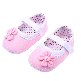 Wholesale Chaussure Flower Girl - Wholesale- shoes baby 2016 children's shoes girls toddler baby shoes flowers kids first walkers baby booties chaussure fille great