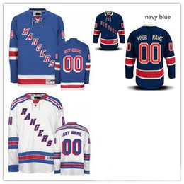 Wholesale Light Stops - Stitched Custom New York Rangers mens womens youth Customized Navy Blue Third Light White Home Personalized ice Hockey cheap Jerseys S-4XL