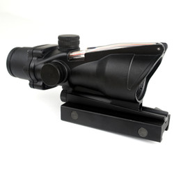 Wholesale Rifle Scopes Mounts - Timberwolf ACOG Style 1X32 Red Dot Riflescope with Optic Fiber Reticle and QD 20mm Mount for Airsoft