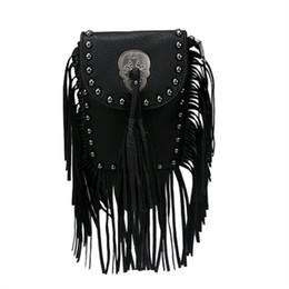 Wholesale Red Fringe Purse - Wholesale-Hot Fashion Women's PU leather Suede Weave Tassel Shoulder Bag Rivets Messenger Bag Fringe solid color Handbags zip top purse