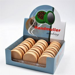 Wholesale Wholesaler For Tobacco Machines - 120pcs carton Wood Tobacco Grinder wooden spice herb handle grinder crusher 55mm 2 parts for smoking rolling machine smoking pipe supplyer