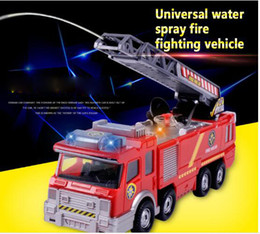 Wholesale Electric Truck Toys - Water Spray Fire Fight Vehicle Children Car Electric Car Toys Water Spray Music Fire Truck Simulation Toy Car