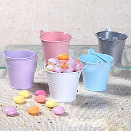 Wholesale Decorative Buckets Wedding - wedding Easter favors boxes Candy Box decorative buckets Wedding accessories gift Candy Bucket party decoration