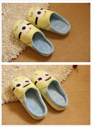 Wholesale Plush Slipper Minions - Wholesale-Despicable Me Minions Plush Stuffed Slippers Cartoon Women's Minion Warm Indoor Slippers Cosplay Shoes