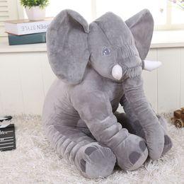 Wholesale Baby Shaping Pillow - retail 2017 elephant pillow baby doll children sleep pillow birthday gift INS Lumbar Pillow Long Nose Elephant Doll Soft Plush 30cm