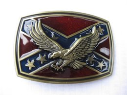 Wholesale Men Belt Buckles Western - NEW USA American Flag Pride Eagle Metal Western Cowboy Mens Belt Buckle