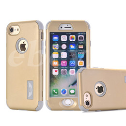 Wholesale Hard Cases For Mobile Phones - Defender Hard Back Cases For Iphone 5 6 7 Plus Waterproof Shock Proof Mobile Phone Colorful Case Hybrid Plastic & Silicone Samsung S6 Edge