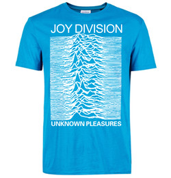 Wholesale Men Gothic Shirt - Wholesale-2016 new summer Joy Division T Shirts Men Unknown Pleasure Post Punk Gothic fahion funny t shirt Rock And Roll Hot Man Tops tees