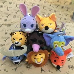 Wholesale Min Videos - zootopia Tsum figures plush dolls 10 cm Judy Nick pendants 9 models animal stuffed doll toys kids gift Min Order 150pcs Free Shipping