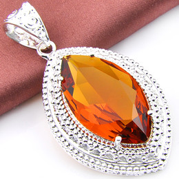 Wholesale Necklace Brazilian - Valentine's day gift Fashion Brazilian Citrine stone Perfection Handmade Women jewelry Pendant with chain necklace P0467