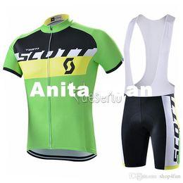 Wholesale Yellow Scott Bicycles - 2015 Tour De France Green Yellow Cycling Jerseys Scott Bike Wear Xs-4XL Quick Dry Anti Pilling Bicycle Clothing