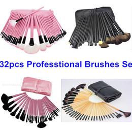 2019 32шт розовый черный макияж кисти набор 32Pcs профессиональный макияж кисти набор макияж косметика кисть набор инструментов кисти для макияжа древесины розовый черный 4 цвета дешево 32шт розовый черный макияж кисти набор