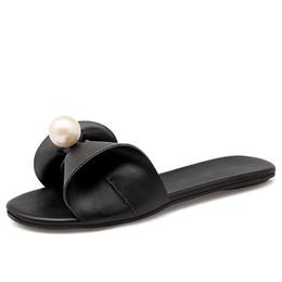 Wholesale Flip Flop Bling - Fashion women flip flops Beach sandals beads Bling summer slippers flat shoes female flats slides slippers