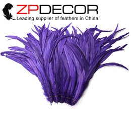 Wholesale Long Rooster Tail Feathers - Factory ZPDECOR Outlets 30-35cm(12-14 inch) Good Looking Prime Quality Long Rooster Chicken Tail Feathers Dyed Purple