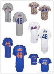 Wholesale Quick Shipping Dress - 2015 Fashion New New York Mets 48 Jacob deGrom Jerseys 2015 New Embroidery Stitched Shirt Sports Dress Outlets Free Shipping Camisa