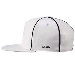 Wholesale Leather Hat Buckles - Faux Leather Buckle Snapback Baseball Cap Flat Brim Hip Hop Hat Adjustable C00284 CAD