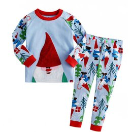 Wholesale Christmas Reindeer Top - 2016 new hot design hot white top Christmas X-mas suit kids baby reindeer print pants boutique girls clothes sets