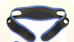 Dispositivos de apneia do sono on-line-Anti Ronco Chin Strap Neoprene Parar Ronco Queixo Cinto de Suporte Anti Apnéia Jaw Solução Sono Dispositivo 2017 Novo